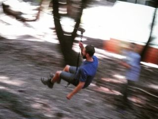 Riding the Zip Line